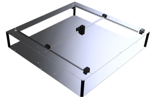 Render prototipo corte láser Bitfab