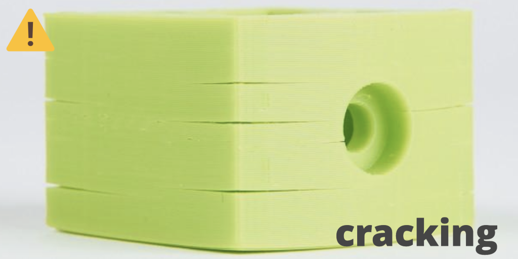 Cracking in a 3D printed part