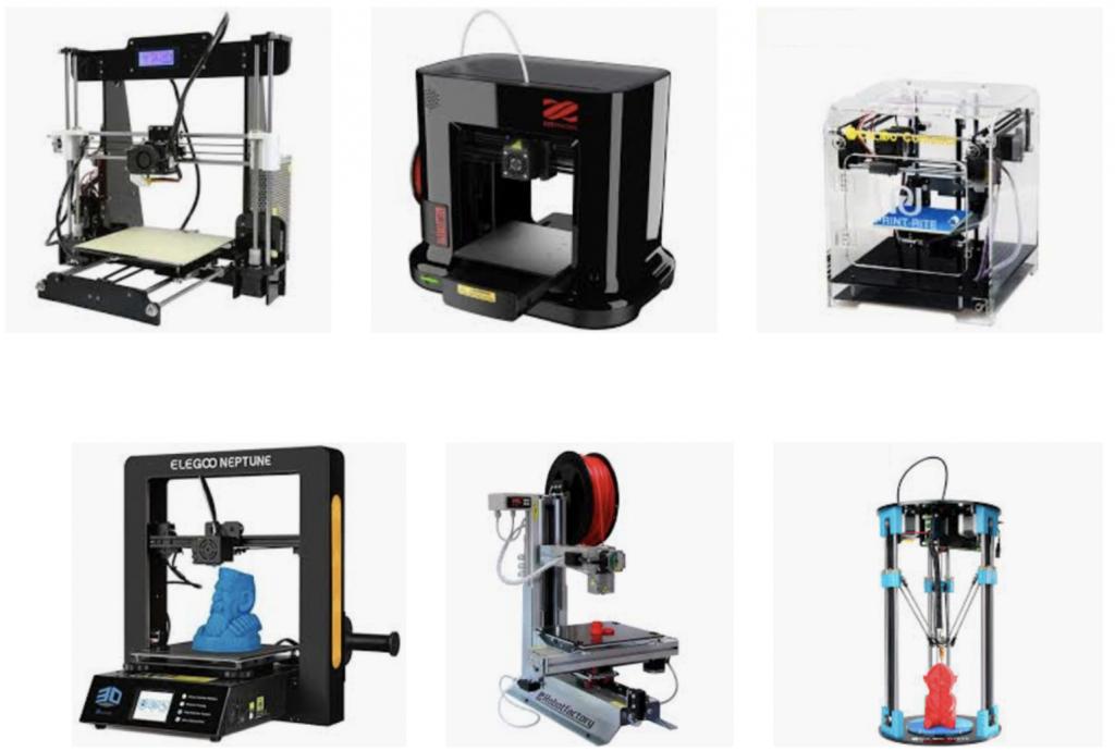 Ejemplos de impresoras 3D FDM