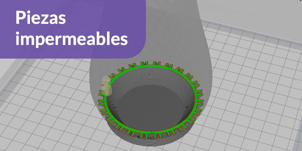 Piezas impermeables 3D