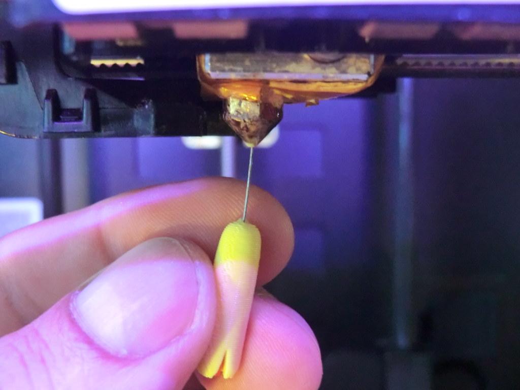 Aguja acupuntura atasco impresora 3D