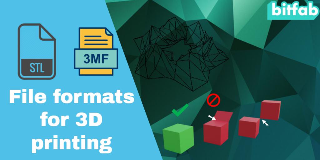 file formats for 3D prinring