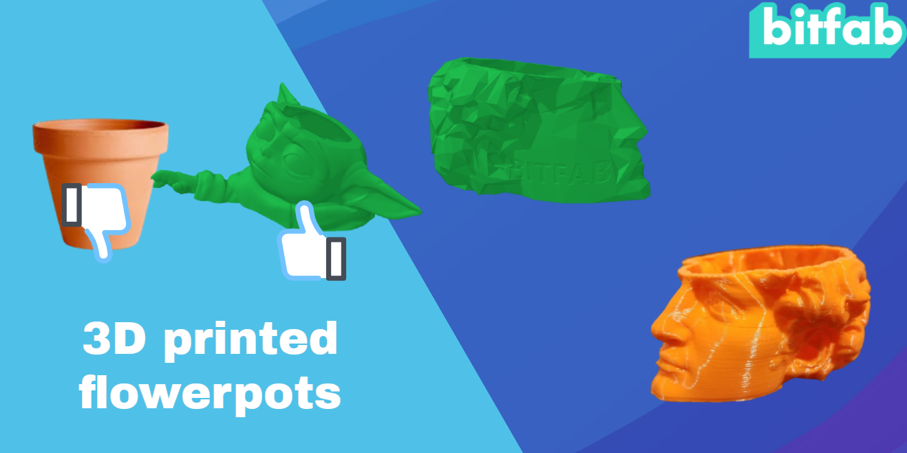 3d printed flowerpots